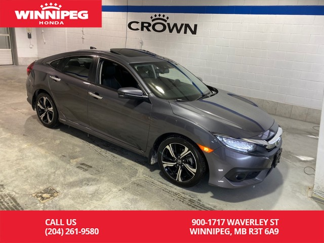 Certified Pre-Owned 2017 Honda Civic Sedan Touring/Sunroof/Bluetooth/Heated seats/Navigation