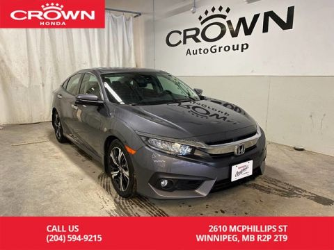 Pre-Owned 2018 Honda Civic Sedan Touring CVT/ ONE OWNER/ HEATED FRONT AND REAR SEATS/ BACKUP CAMERA/ SUNROOF/ APPLE CARPLAY AND ANDROID AUTO