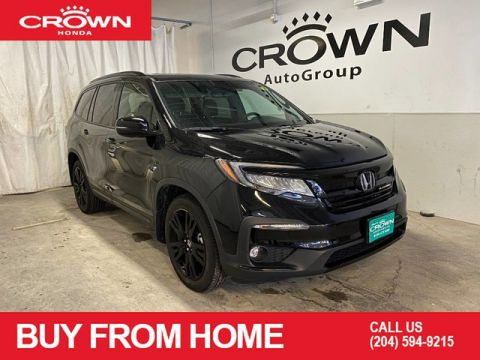Pre-Owned 2019 Honda Pilot Black Edition AWD/ ACCIDENT FREE HISTORY/ APPLE CARPLAY AND ANDROID AUTO/ POWER MOONROOF/ HEATED FRONT AND SECOND ROW SEATS/ IDLE START STOP